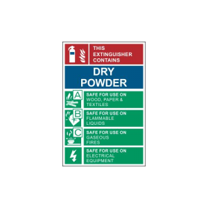 dry powder sign