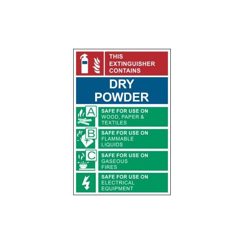 dry powder sign