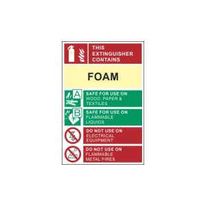 foam extinguisher sign