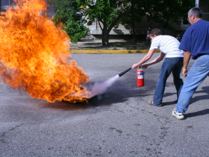 fire extinguisher demo